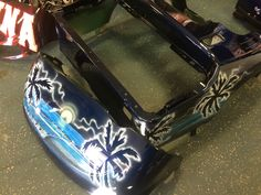 new, sexy, custom painted beach scene, golf cart body just in from the painter