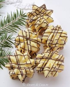 Fancy Desserts, Köstliche Desserts, Delicious Desserts, Dessert Recipes, Romanian Desserts, Romanian Food, Christmas Sweets, Christmas Baking, Cookie Time