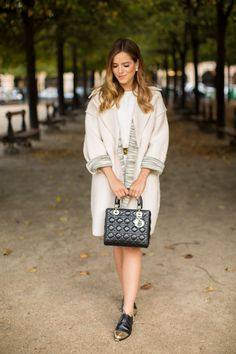 11.14 winter white in place des vosges (M Missoni coat + ASOS tailored clean shift dress in crepe + Thakoon Addition 'Karolina' two-tone leather brogues + Marni belt + Dior earrings + Dior bag)