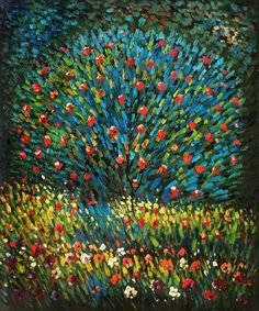 Gustav Klimt - Apple Tree I.  One of overstockArt's most popular paintings for 2014. Hand painted reproductions are available in a variety of sizes at overstockArt.com. #art
