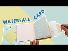 YouTube Fun Fold Cards, Folded Cards, Diy Cards, School Board Decoration, Diy Crafts For Boyfriend, Tarjetas Pop Up, Waterfall Cards, Origami, Up Book