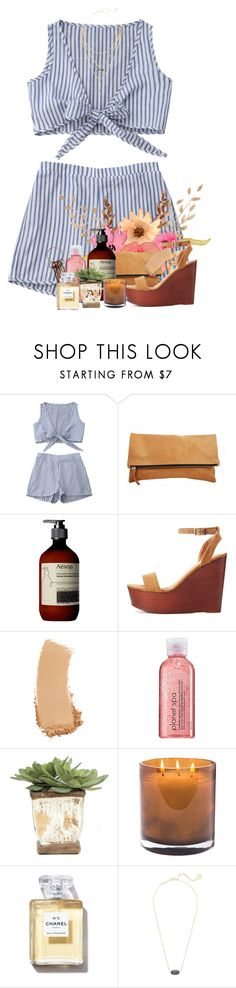 """""""Rest of my day in the d"""" by livnewell ❤ liked on Polyvore featuring Aesop, Bamboo, Gucci, Avon, Lux-Art Silks, Laura Mercier, Chanel and Kendra Scott"""