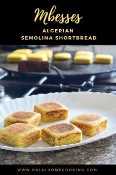Mbesses - Algerian Semolina Shortbread – Halal Home Cooking