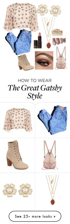 """Untitled #39"" by slaygirlslay on Polyvore featuring Levi's, Timberland, Madewell, Lipstick Queen, Rebecca Minkoff and Miriam Haskell"