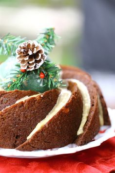 Gingerbread Bundt Cake - A moist, intensely spiced gingerbread cake, finished with a whiskey glaze. {vegan}