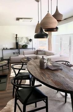 I would hate to eat on that table but it makes for a very harmony setting. Dining Table, Living Room, Bedroom, House, Inspiration, Apartments, Furniture, Dresser, Contrast
