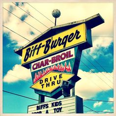 Vintage Signs of St. Petersburg - Biff-Burger Restaurant Sign St. Petersburg, Florida.  Was surprised to see this old Biff-Burger still there and still open on my last trip to St. Pete.  I think it may be the last of the lot.   Photo Print - 8 x 8. $ 15.00, via Etsy.