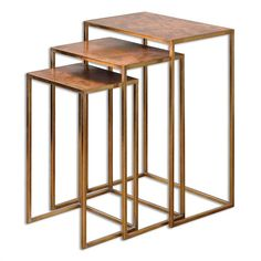 Copper Nesting Tables - Set of 3 | Scenario Home