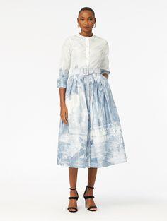 e8783129ba Oscar de la Renta - Toile du Jouy Silk-Chine Cocktail Dress Trendy Fashion