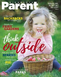 Our annual Outdoors Issue is out now! Check out our darling, berry-chomping Cover Kid, Emilia, 2, of Maple Grove.  Photo by Rachel Nadeau / De La Vue