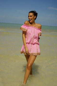 Mini dress MISS JUNE Paris June, Shoulder Dress, Glamour, Paris, Dresses, Fashion, Outfits, The Beach, Color