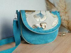 Bleu Turquoise, Boutique Etsy, Saddle Bags, Collection, Linen Fabric, Large Bags, Pouch Bag