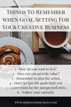 Goal Setting For Your Creative Business - setting goals, marketing goals, business goals, goal ideas, how to set goals