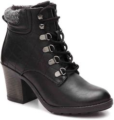 $49.00 Adorable Women's Mia Teddy Combat Boot -Black for Fall