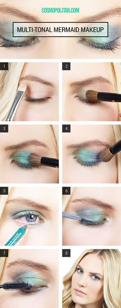 Halloween How-To: Deep Aqua Mermaid Eyes. MERMAID!