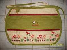 cute apron with lots of pockets and loops. click picture to see more pics and how i made it :)