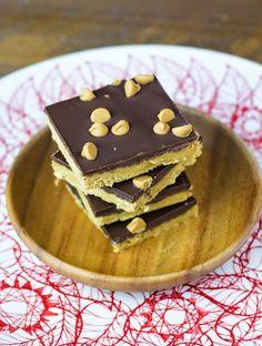 Objetivo: Cupcake Perfecto.: Barritas de mantequilla de cacahuete y chocolate sin horneado