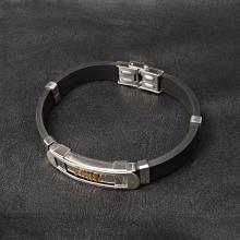 Αντρική χειροπέδα απο ατσάλι και καουτσουκ Κωδ.BRMAA0027EN 25,00 € Bracelets, Jewelry, Jewlery, Bijoux, Schmuck, Jewerly, Bracelet, Jewels, Jewelery