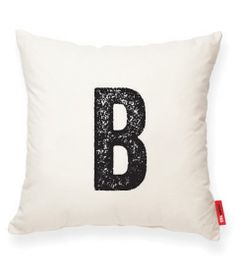 Mod Lettered Muslin Pillows