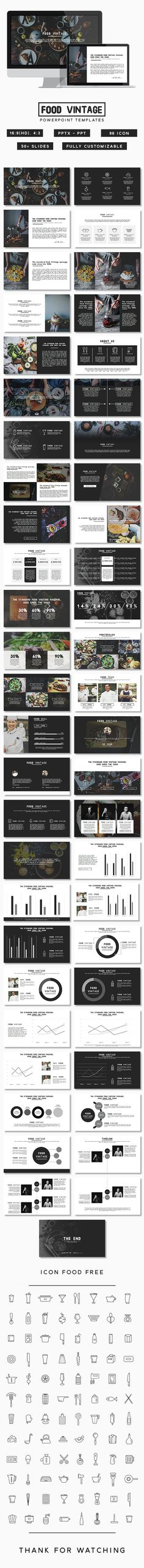 Food Vintage Presentation (PowerPoint Templates)