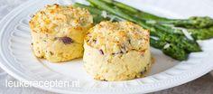 Taartjes van aardappelpuree - Leuke recepten A Food, Food And Drink, Vegetarian Recipes, Healthy Recipes, How To Cook Potatoes, Tapas, Foodies, Side Dishes, Brunch