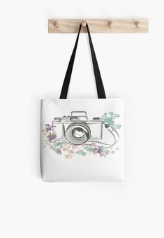 Retro Old School Vintage Camerman Watercolor Cotton Tote Bags, Reusable Tote Bags, Vintage Photography, Poplin Fabric, Old School, Shopping Bag, Retro Vintage, Finding Yourself, Throw Pillows