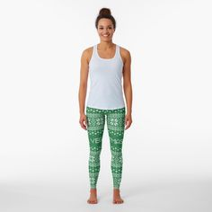 Promote   Redbubble Gold Leggings, Leopard Print Leggings, Printed Leggings, Designer Leggings, White Patterns, Design Patterns, Geometric Patterns, Fashion Flats, Stripe Print