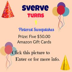 Pin your image, or re-pin this image to enter Sverve's Pin it to Win it Sweepstakes. Use #SverveTurns1 Click link to enter email http://www.sverve.com/s/taqtVF3sub