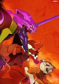 sekigan Neon Genesis Evangelion, Manga Art, Anime Art, Evangelion Tattoo, Design Comics, Robot Concept Art, Mecha Anime, Environmental Art, Psychedelic Art