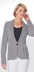Boyfriend Knit Jacket (Stripe) | Tall Women's Clothes, Ladies Clothing & Apparel by Long Elegant Legs