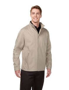 Tri-Mountain Equinox lightweight soft shell bonded jacket features a 3-layer construction consisting of a windproof/water-resistant outer shell of polyester bonded to a brushed tricot lining, with a breathable membrane in between. Plenty of room for storage with three exterior zippered pockets and inner cell phone pocket. Half elastic cuffs and draw-cord bottom hem for a tailored fit. Underarm vents for increased air flow. Double storm flap. Available in Black/Black, Deep Navy/Black and…