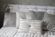 tyyny,tyynyt,koristetyynyt,valkoinen,hopea