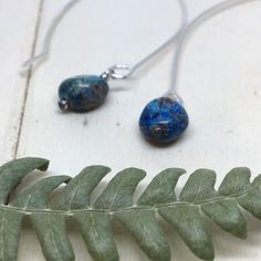 Your place to buy and sell all things handmade Sterling Silver Hoops, Gemstone Earrings, Sterling Silver Necklaces, Sterling Silver Earrings, Drop Earrings, Turquoise Gemstone, Turquoise Necklace, Leaf Necklace, Simple Earrings
