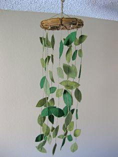 Wreath Mobile Eco Felt Leaves VinesSmall by NaturallyNoraCrochet