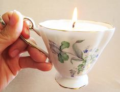 How to Make Tea Cup Candles | Pretty Prudent