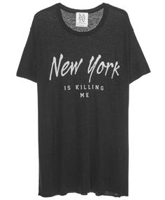 NEW YORK DESTROYED LOOSE FIT TEE