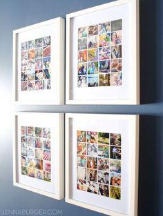 30+ Fotowände und Fotocollagen Ideen - Fotowand Dekoideen