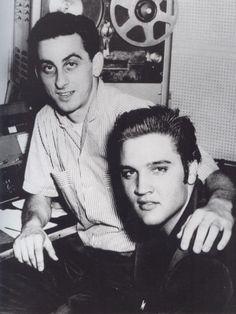 ABOVE: Elvis  and George Klein   at WMC Radio  in 1956