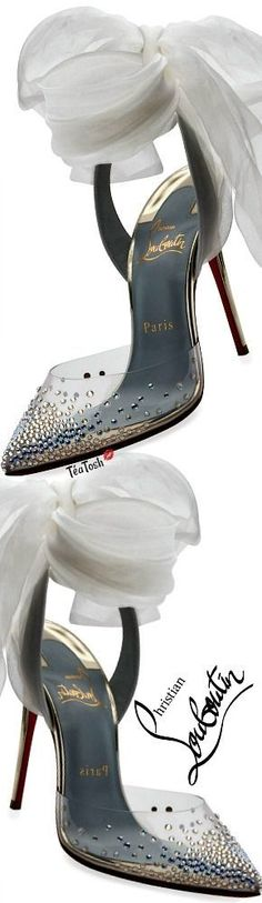 ❈Téa Tosh❈ Christian Louboutin, Miragirl Ankle-Wrap Red Sole Pump
