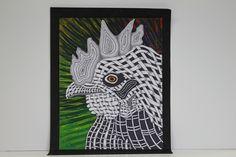 woven animal drawing