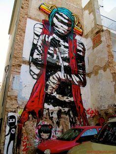 Barrio de El carmen - Valencia graffiti, Deih (grafitero)