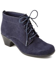 "Clarks ""Ingalls Lace"" Suede Bootie is on Rue. Shop it now."