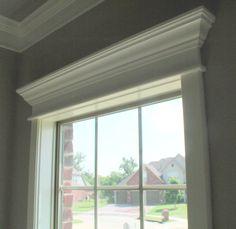window top moulding - simple but effective