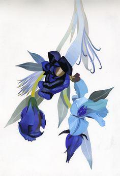 flower by Hiroyuki Izutsu, via Behance