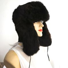 Dark brown rabbit fur trapper hat, Ushanka hat, lumberjack hat, beautifully soft, fully lined, suede ties, size 59 cm / 23.25 inches by CardCurios on Etsy The Shins, Trapper Hats, Vintage Hats, Rabbit Fur, Dark Brown, Ties, Winter Hats, Unisex, Model