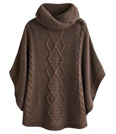 Joules Tess Cable Sweater Poncho