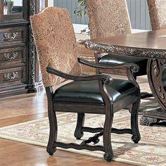 Yuan Tai Furniture AS8030A Aspen Arm Chairs (Set of 2) This Dining Chair from Yuan Tai Furniture is available in an aspen cherry finish. Has aspen floral