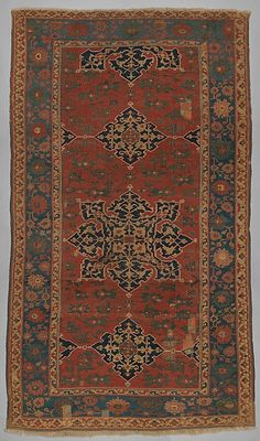 James Ballard Star Ushak Star Ushak Carpet Object Name: Carpet Date: probably 17th century Geography: West Central Turkey Culture: Islamic Medium: Wool (warp, weft and pile); symmetrically knotted pile Dimensions: H. 1213/4 in. (309.2 cm) W. 71 in. (180.3 cm) Classification: Textiles-Rugs Credit Line: The James F. Ballard Collection, Gift of James F. Ballard, 1922