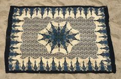 Wandkleed Indiaas Patroon - Zwart/beige - 200*140cm -