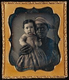 Nurse-and-Child- (Hand- Colored- Daguerreotype) c. 1850 The emotion in her eyes...